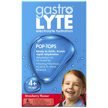 Gastrolyte Ready To Drink Strawberry Pop-Top 250ml x 4