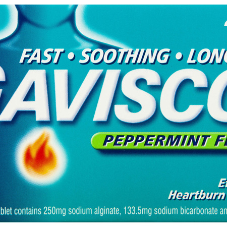 Gaviscon Chewable Tablets Peppermint Heartburn & Indigestion Relief 48 Pack
