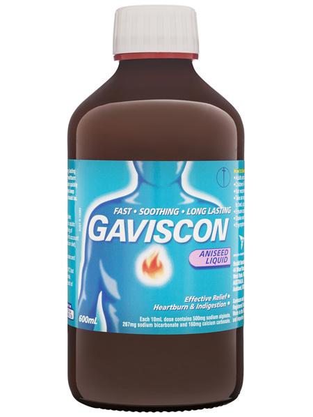 Gaviscon Core Aniseed Liquid Heartburn and Indigestion Relief 600ml