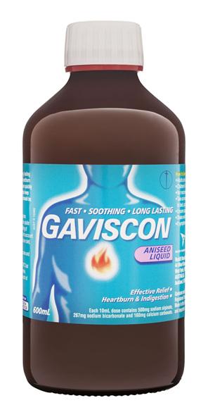 Gaviscon Core Aniseed Liquid Heartburn & Indigestion Relief 600ml
