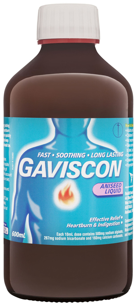 Gaviscon Core Aniseed Liquid Heartburn & Indigestion Relief 600ml