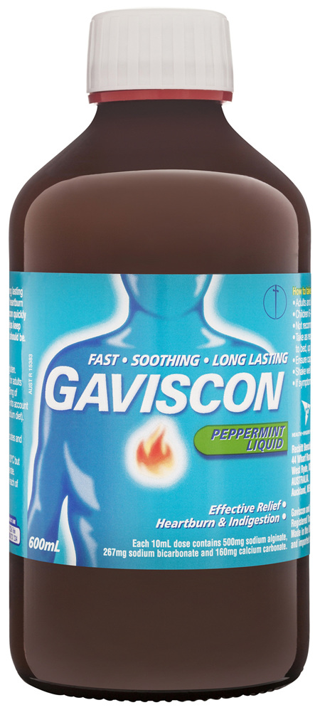 Gaviscon Core Peppermint Liquid Heartburn & Indigestion Relief 600ml