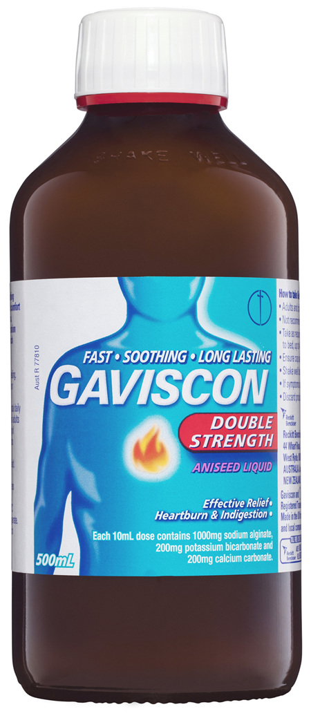 Gaviscon Double Strength Liquid Heartburn and Indigestion Relief Aniseed 500mL