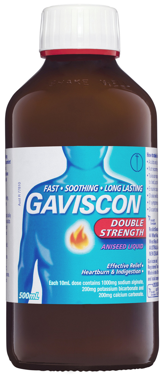 Gaviscon Double Strength Liquid Heartburn and Indigestion Relief Aniseed 500mL