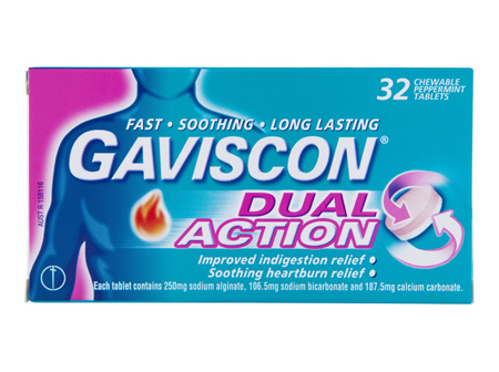 Gaviscon Dual Action 32 Peppermint Chewable Tablets