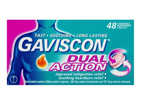 Gaviscon Dual Action 48 Chewable Tablets