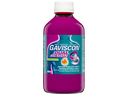Gaviscon Dual Action Heartburn & Indigestion Relief Liquid Peppermint 600mL