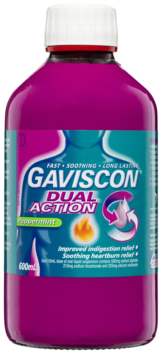 Gaviscon Dual Action Heartburn & Indigestion Relief Liquid Peppermint 600mL
