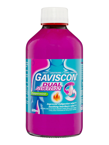 Gaviscon Dual Action Liquid Heartburn & Indigestion Relief 600ml