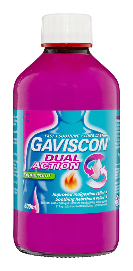 Gaviscon Dual Action Liquid Heartburn & Indigestion Relief 600ml