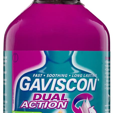 Gaviscon Dual Action Liquid Peppermint Heartburn & Indigestion Relief 600ml