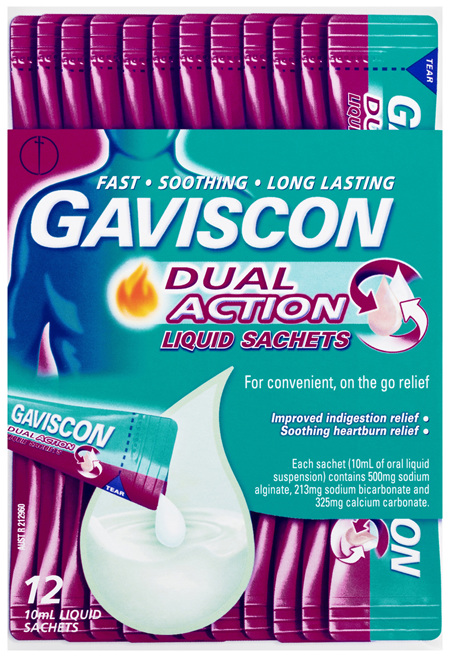 Gaviscon Dual Action Liquid Sachets for Heartburn & Indigestion Relief