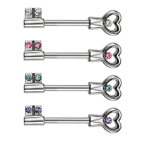 Gem Key Nipple Bar