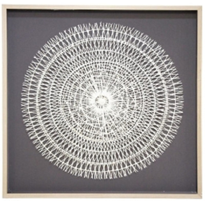 Gemi Wall Art - Natural Frame/120x120cm