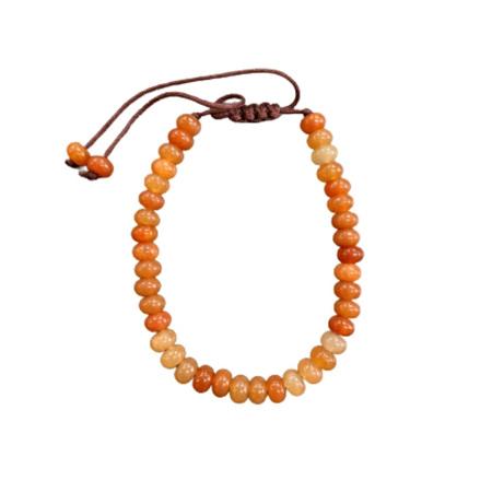 Gemstone Bracelet Orange Agate