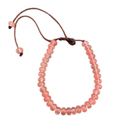 Gemstone Bracelet Pink Crystal