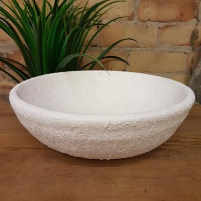 Genette Ceramic Bowl - White Sea Foam
