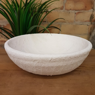Genette Ceramic Bowl - White Sea Foam 31cmd