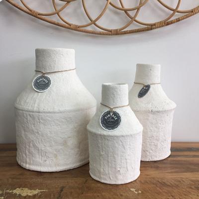 Genette Ceramic Vase - White Sea Foam