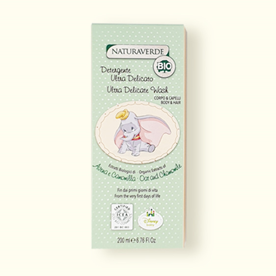 Gently cleanses baby's skin and hair in one go.