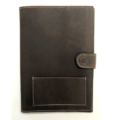 Genuine Leather Passport Cover - Brown