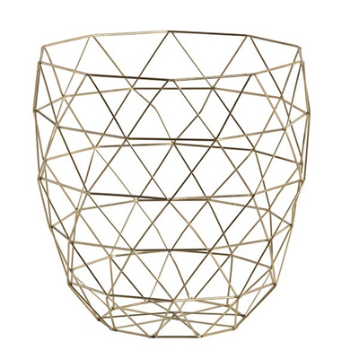 Geo Metal Basket Gold