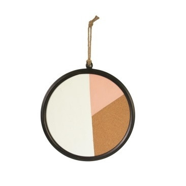 Geo Patterned Round Cork Board