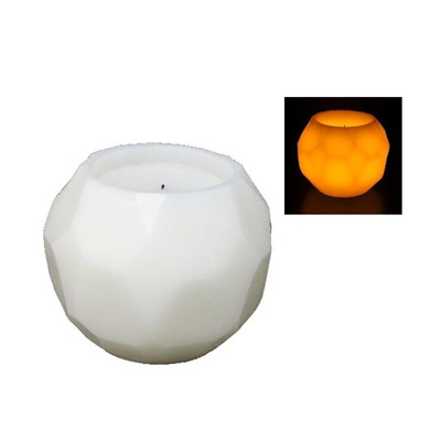 Geometric Led Wax Candle 15cm