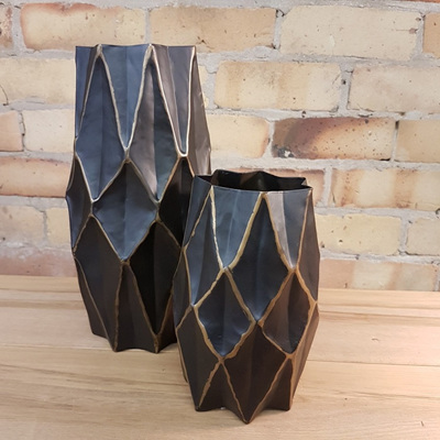 Geometric Metal Vessel 20 cm