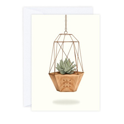 Geometric Planter Greeting Card