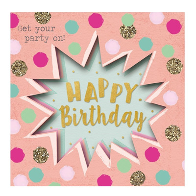 Get Your Party On! Greeting Card