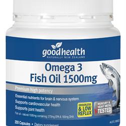 GH Omega 3 Fish Oil 1500Mg 400 Caps