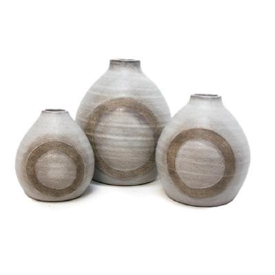 Gianna Ceramic Vase - Pale Grey