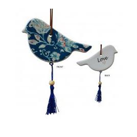 Gift Bird Blue Paisley