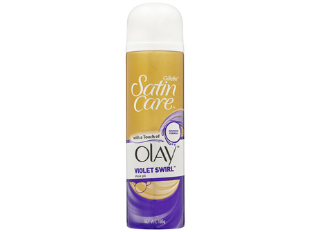 Gillette Satin Care with a Touch of Olay Violet Swirl Shave Gel 195g