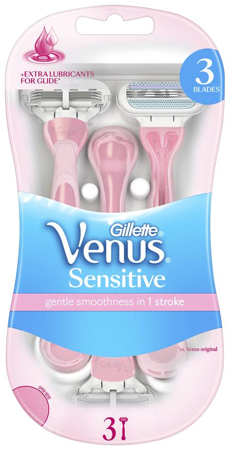 Gillette Venus Sensitive Disposable Razors 3 Pack