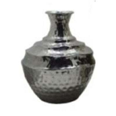 Gina Metal Vase - Nickel/Squat