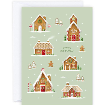 Gingerbread Village Card