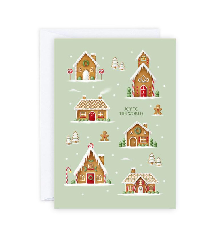 Gingerbread Village Card
