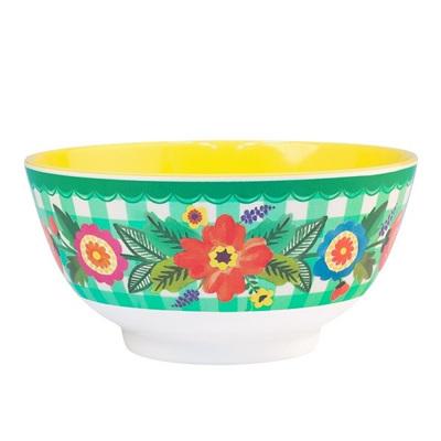Gingham Garden Bowl