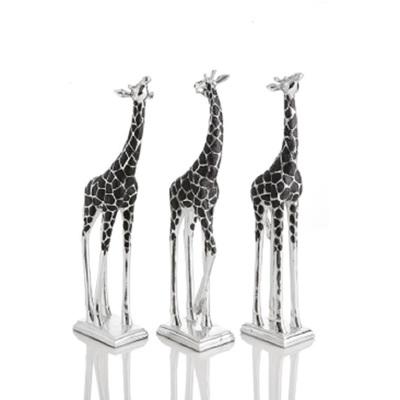 Giraffe 3 Ast Silver & Black Poly