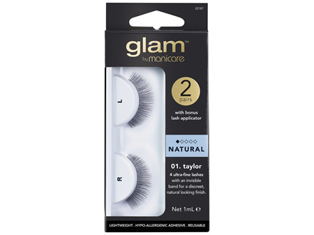 Glam By Manicare 01. Taylor 2 Pack Lashes