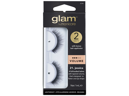 Glam By Manicare 21. Jessica 2 Pack Lashes