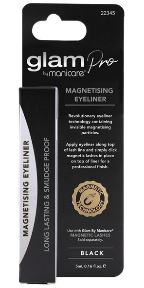 Glam By Manicare Magnetising Eyeliner Black 5mL
