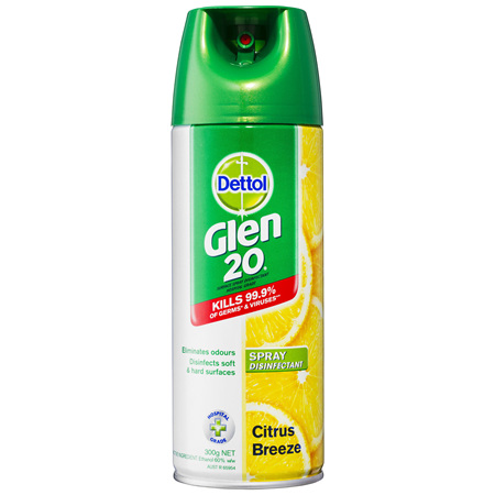 Glen 20 All-In-One Disinfectant Spray Citrus Breeze 300g