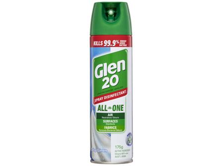 Glen 20 All-In-One Disinfectant Spray Crisp Linen 175g