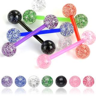 Glitter Ball Flexible PTFE Barbell