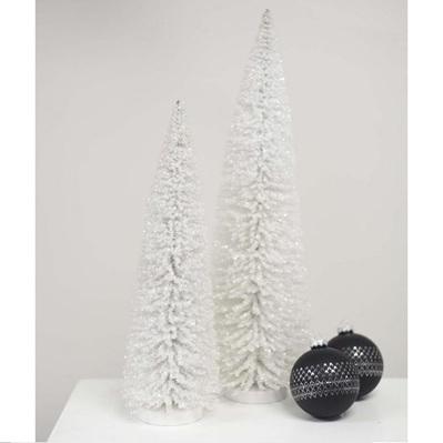 Glitter & Snow Pine Tree - White