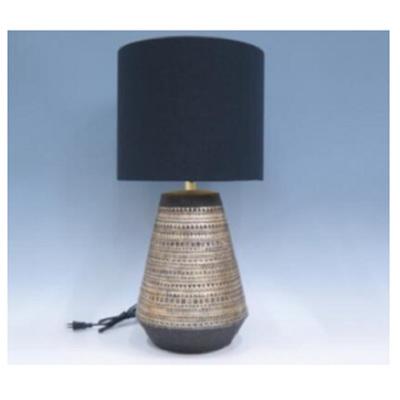Global Resin Lamp - Black Shade/60cmh