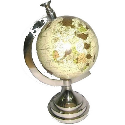 Globe 5' - Silver Antique